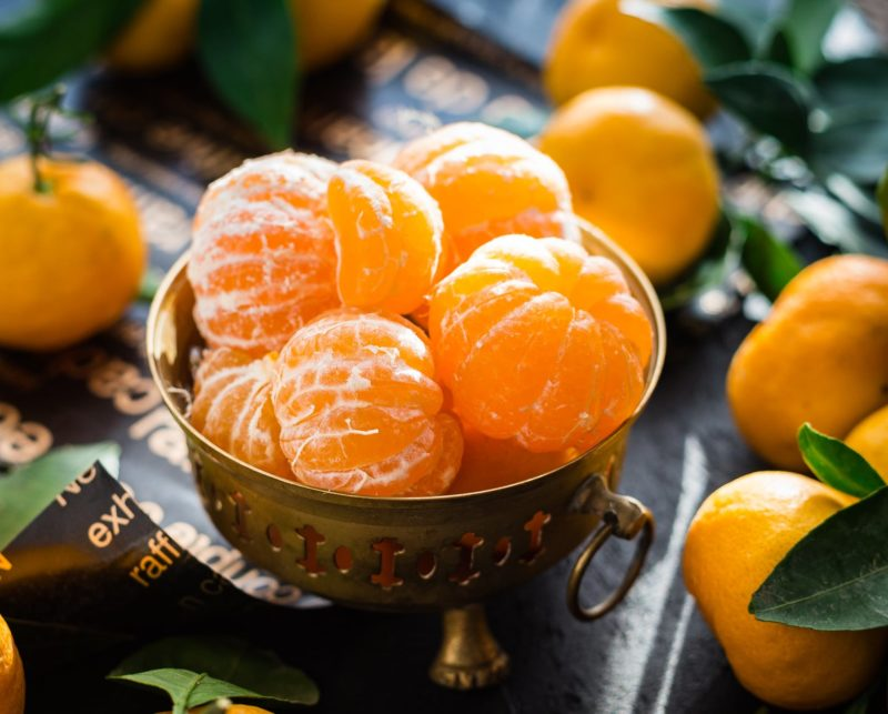 close up of fruits in bowl